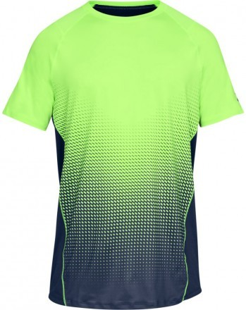 Under Armour UA Raid 2.0 Dash Fade Short Sleeve Green Navy