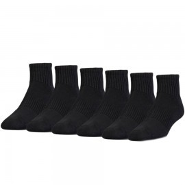 Under Armour Charged Cotton 2 Quater Black 6Pack