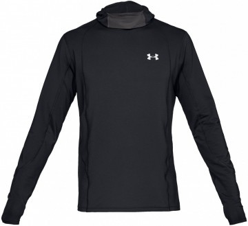 Under Armour ColdGear Reactor Run Balaclava Hoodie Black