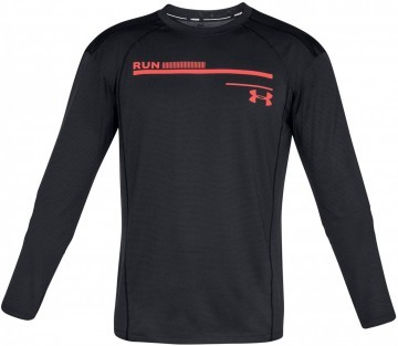 Under Armour Simple Run Graphic Long Sleeve Black