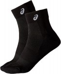 Asisc QUARTER SOCK Black 2ppk