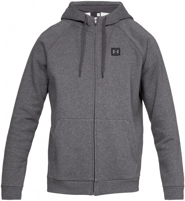 Under Armour Rival Fleece Full Zip Hoodie Grey