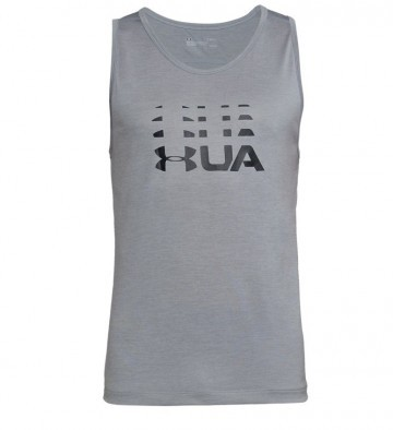 Under Armour Tech Graphic Tank Gry