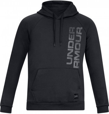 Under Armour Rival Fleece Script Hoody Black