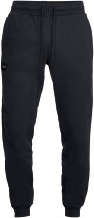 Under Armour Rival Fleece Script Jogger Black