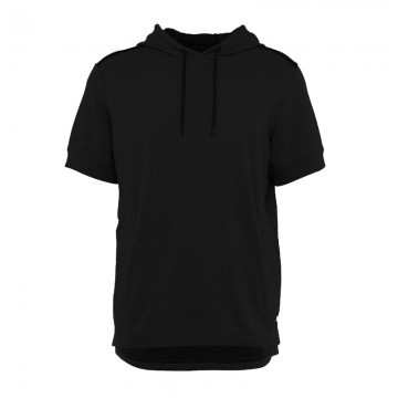 Under Armour Threadborne Terry Short Sleeve Hoodie Black