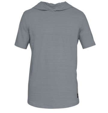 Under Armour Sportstyle Short Sleeve Hoodie Grey