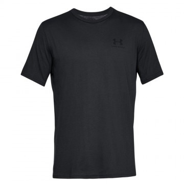 Under Armour Sportstyle Left Chest Short Sleeve Black