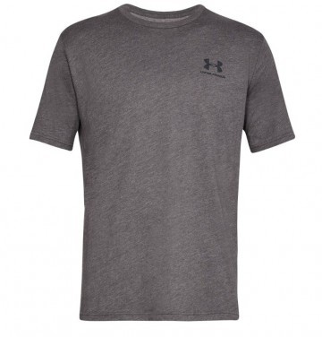 Under Armour Sportstyle Left Chest Short Sleeve Gray