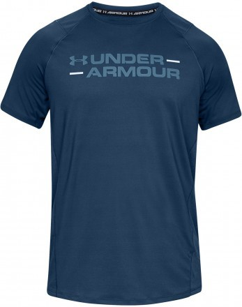 Under Armour MK1 Short Sleeve Wordmark Blue