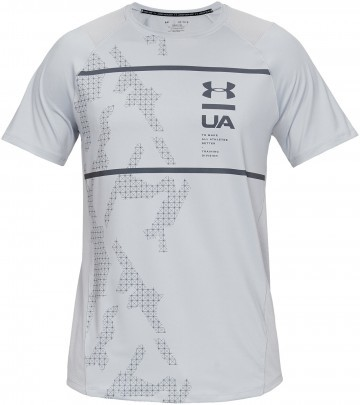Under Armour MK1 Short Sleeve Q2 Printed Grey
