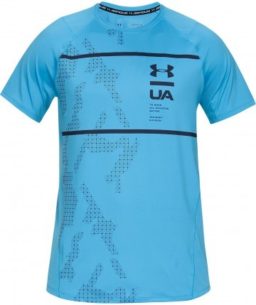 Under Armour MK1 Short Sleeve Q2 Printed Blue