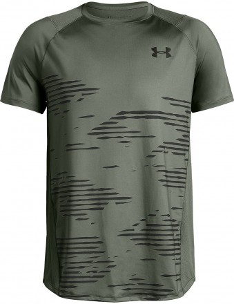 Under Armour MK1 Short Sleeve Camo Green