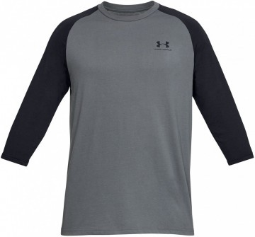 Under Armour Sportstyle Left Chest 3/4 Tee Black Grey