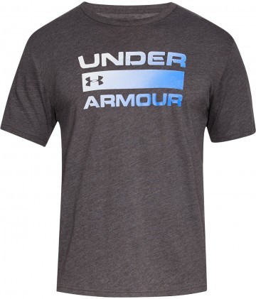 Under Armour UA Team Issue Wordmark Short Sleeve Grey Blue