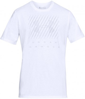 Under Armour UA Branded Big Logo Short Sleeve White