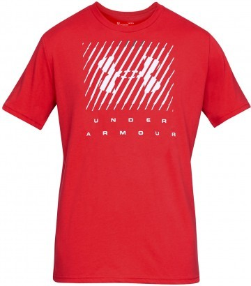 Under Armour UA Branded Big Logo Short Sleeve Red