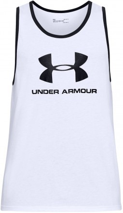 Under Armour Sportstyle Logo Tank White Black