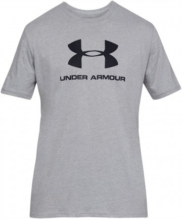 Under Armour Sportstyle Logo Short Sleeve Grey