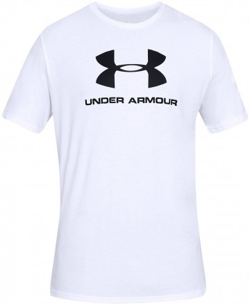 Under Armour Sportstyle Logo Short Sleeve White