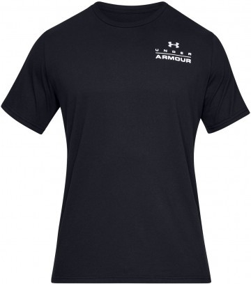 Under Armour UA Stacked Left Chest Short Sleeve Black