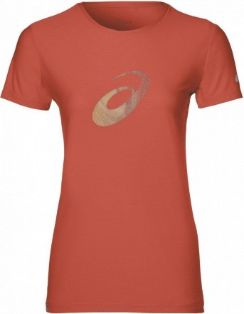 Asics Graphic Short Sleeve Top Red