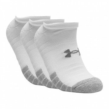 Under Armour Heatgear No Show White 3pak