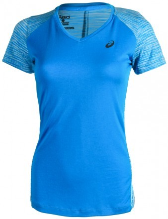 Asics fuzeX V-Neck Top Blue