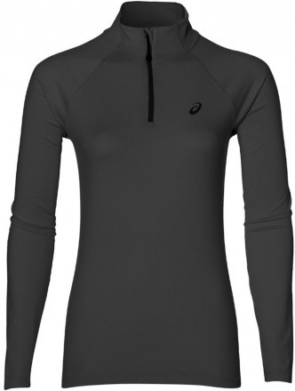Asics Long Sleeve 1/2 ZIP Jersey Black