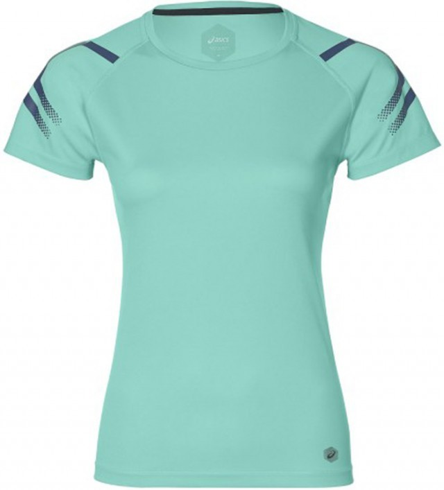 Asics Icon Short Sleeve Top Green Heather