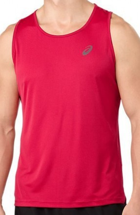 Ascis Silver Singlet Red