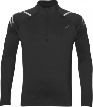 Ascis Icon Winter Long Sleeve1/2 Zip Top Black