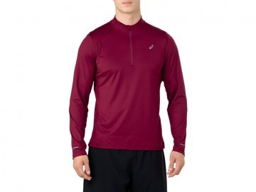 Ascis LS 1/2 Zip Jersey Red