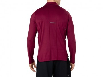 Asics LS 1/2 Zip Jersey Red
