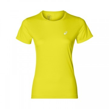 Asics Silver Short Sleeve Top Lemon Spark