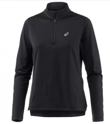 Asics Silver Ls 1/2 Zip Winter Top Performance Black