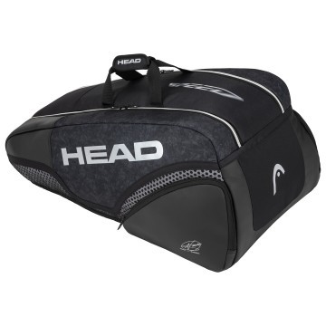 Head Djokovic 9R SuperCombi Black / White