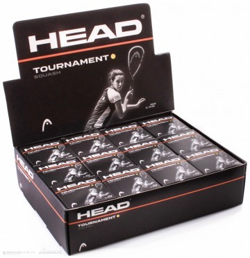 Head Tournament Squash Ball 12-pack