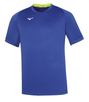 Mizuno Core Short Sleeve Tee Royal / Yellow Fluo
