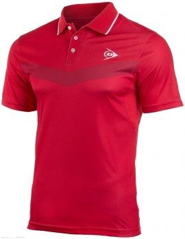 Dunlop Performance Button Polo Red
