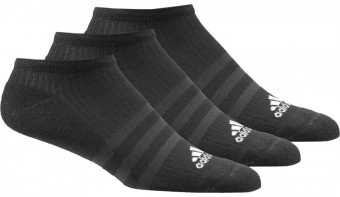 Adidas Skarpety 3-Stripes No-Show 3 Pack Black