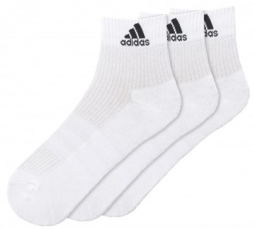 Adidas Performance Ankle White 3 Pack