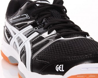 Asics Gel-Rocket 7 Czarne buty do squasha