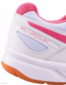 Asics Gel-Upcourt White-Pink buty do squasha damskie