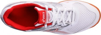 Asics Upcourt 2 White/Red/Silver buty do squasha