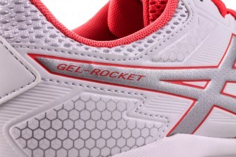 Asics Gel-Rocket 8 White Red Silver buty do squasha damskie