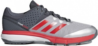 Adidas Court Stabil 14 Silver Red buty do squasha