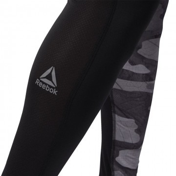 Reebok Compression Tight - Aop Black Grey