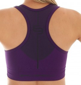 Brubeck Crop top purpurowy