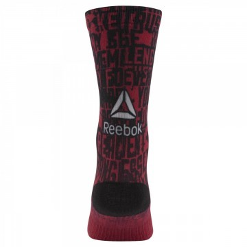 Reebok Enhanced Printed Crew Red Black